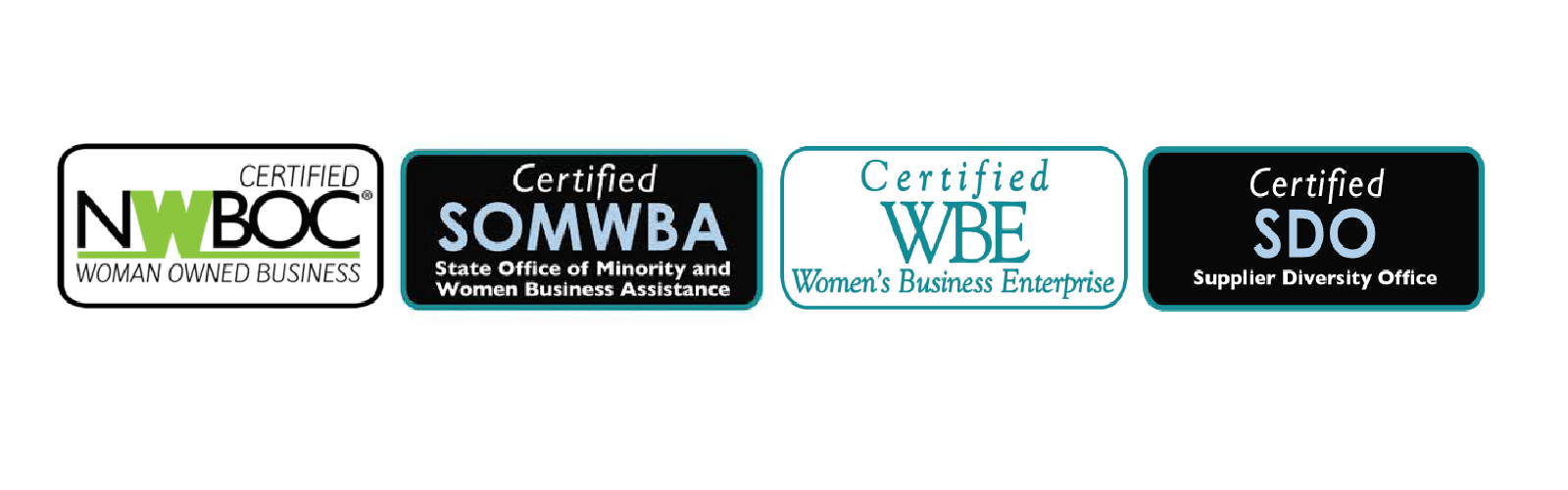 Zelus Diversity and Woman Owned Business Certifications: Certified NWBOC Certified SOMWBA Certified WBE Certified SDO
